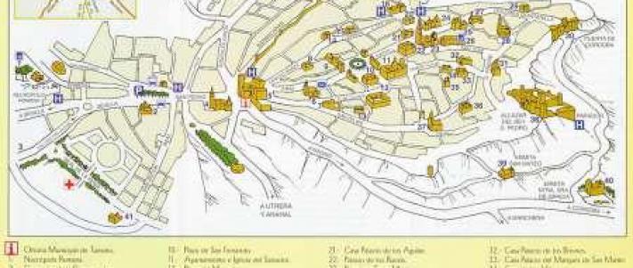Pueblos De Sevilla Mapa.Mapa De Carmona Carmona Pueblos De Sevilla