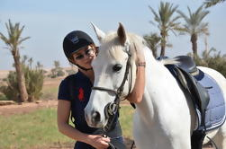 Passeio a cavalo e ciclismo em Quad Tour do Deserto Agafay de Marrakech