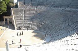 Peloponeso Excursão privada de 2 ou 3 dias com Hotel de 4 estrelas: Olympia antiga Corinto Mycenae Epidaurus e Nafplio de Atenas