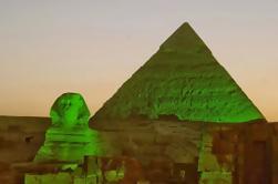 Tour privado: espectáculo de sonido y luz en las pirámides