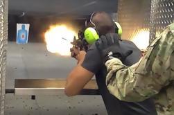 Experiencia de ametralladora con Humvee Militar en Las Vegas