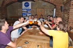 Cerveja com jantar em Praga