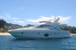 55 'Azimut Yacht Charter con capitán y compañero