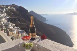 Santorini Sunset Champagne Experiencia