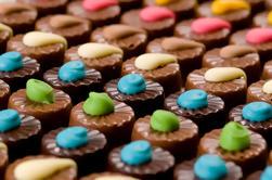 Entrada al mundo asombroso del chocolate de Panny en la fábrica del chocolate de la isla de Phillip