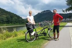 Tour privado en bicicleta a los parques nacionales de Suiza de Bohemia y Suiza sajona desde Praga