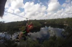 Experiencia en la selva de Tulum: Zipline, Canoe, Snorkel