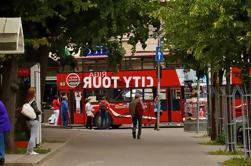 Billete de ida y vuelta en autobús rojo de Riga