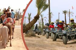 Excursion guidée à vélo Quad et Camel Ride à partir de Marrakech