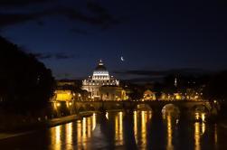Noite em Roma em uma Vespa