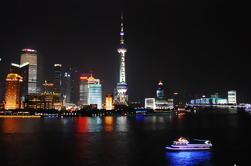 Tour en autobús de las luces nocturnas de la ciudad y crucero por el río Huangpu