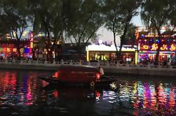 Excursion privée de nuit de Pékin avec le repas de famille de 'Hutong' et la croisière de bateau de back Lakes