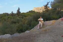 Athènes privée comme une visite locale de l'Acropole