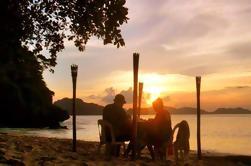 Puesta de sol romántica privada en El Nido incluyendo paseo en barco