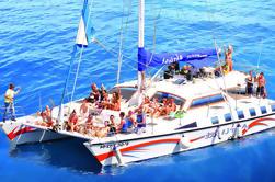 Segel an Bord des Katamaran Afrikat