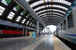 Salida de la estación de ferrocarril de Nápoles