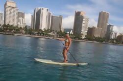 Oahu Stand Up Paddleboarding Lecciones - Lección de grupo - Derecho fuera de Waikiki