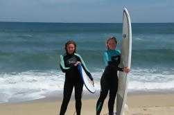Lição de Surf Privada para Dois na Praia de Matosinhos