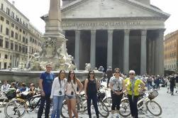 Bicicleta y comida de Roma
