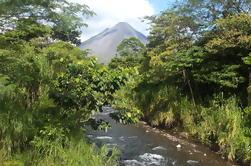Tour combinado: puentes colgantes, cascada de La Fortuna, caminata del volcán Arenal y fuentes termales del paraíso
