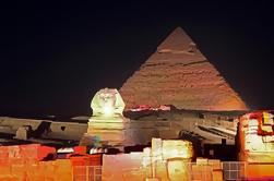 Pirámides del espectáculo de luz y sonido de Giza
