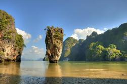 Excursión de un día a la isla de James Bond con canoa y safari en lancha rápida