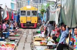 Tour de comida en los mercados flotantes de Bangkok durante todo el día