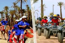 Mezza giornata guidata Quad Tour e Camel Riding Experience a Marrakech