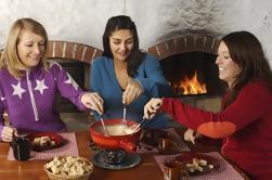 Recorrido culinario con fondue de queso suizo