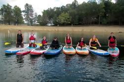 Lição de grupo Paddle Board em Summersville Lake WV