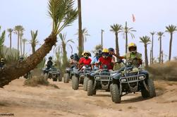 Quad à vélo dans les palmeraies de Marrakech