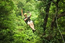 Private Belize City Adventure: Excursión en Zipline en Jaguar Paw y Crystal Cave Tubing