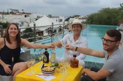 Degustación profesional de tequila en una terraza de la azotea en Playa del Carmen