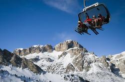 Excursión privada de esquí en los Dolomitas: la Sella Ronda