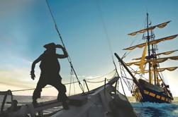 Cena y espectáculo de la puesta del sol del barco pirata en Los Cabos