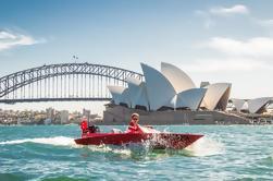 Passeio de barco a motor do Tag-Ao longo do porto de Sydney