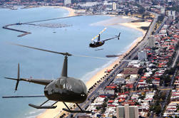 Tour en helicóptero en Melbourne: centro de la ciudad y playa de St Kilda