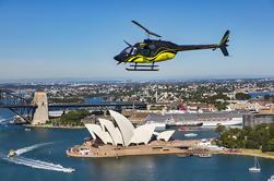 Porto de Sydney de 20 minutos e passeio de helicóptero costeiro com transferências