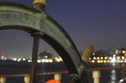 Ciudad de Nueva York puerto luces de vela