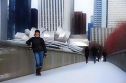 Un paseo a pie de invierno de Chicago