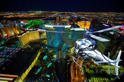 Vuelo de la tira de la noche de Las Vegas con el transporte del VIP
