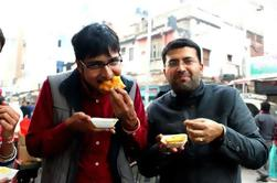 Desayuno, rastro, alrededor, viejo, Delhi