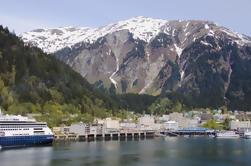 Juneau Shore Exkursion: Stadt und Mendenhall Gletschertour mit Meeresfrüchte Mittagessen oder Abendessen auf Mt Roberts
