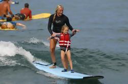 Lección de Surf para grupos pequeños en la Isla Grande