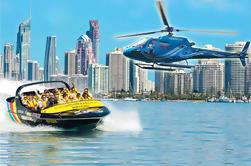 Jet-Boat Ride y vuelo en helicóptero desde la Costa de Oro