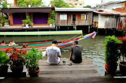 Excursão do canal de Banguecoque pelo barco e pela bicicleta