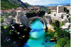 Mostar Excursion d'une journée avec Excursion aux chutes de Kravice de Sarajevo, Dubrovnik ou Split