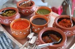 Almuerzo casero en una casa local de Agra