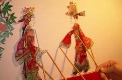 Tour cultural privado de Xi'an de día completo con espectáculo de títeres de sombras y clase de alfarería incluyendo almuerzo
