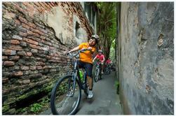 Passado e presente Bike Tour de Bangkok